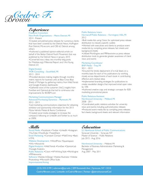 GRA617 Resume Design